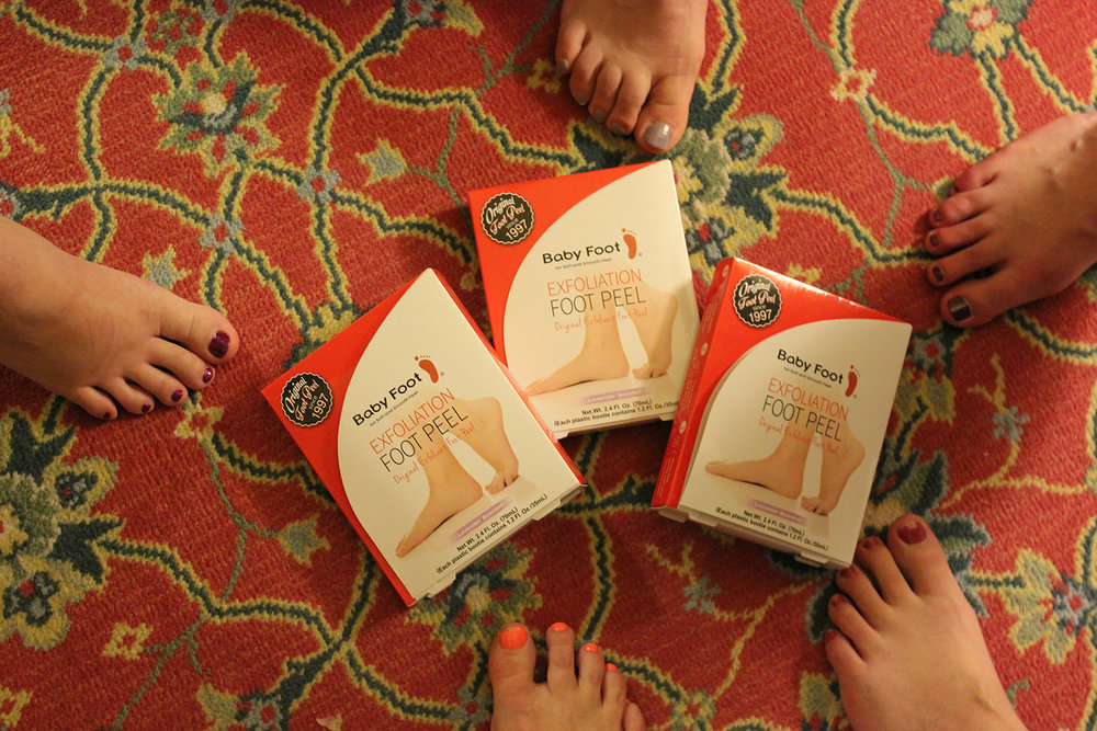 In-room spa pampering with Baby Foot.