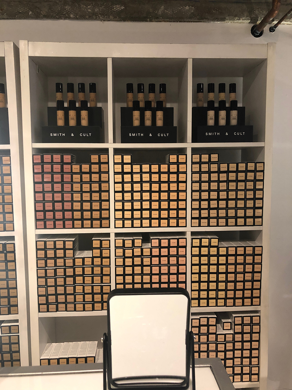 The line also introduced a new Weightless Micro-Blurring Foundation in 42 shades. [Photo by Kamala Kirk]