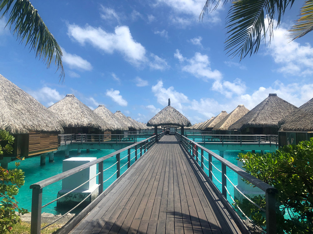 The St. Regis Bora Bora Resort is home to overwater and land villas with exceptional amenities.