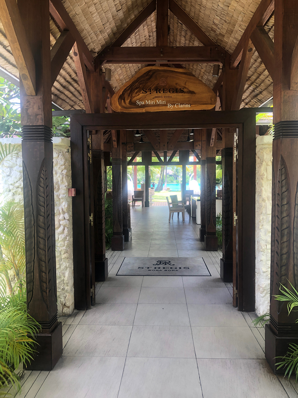 The entrance to Miri Miri Spa by Clarins.