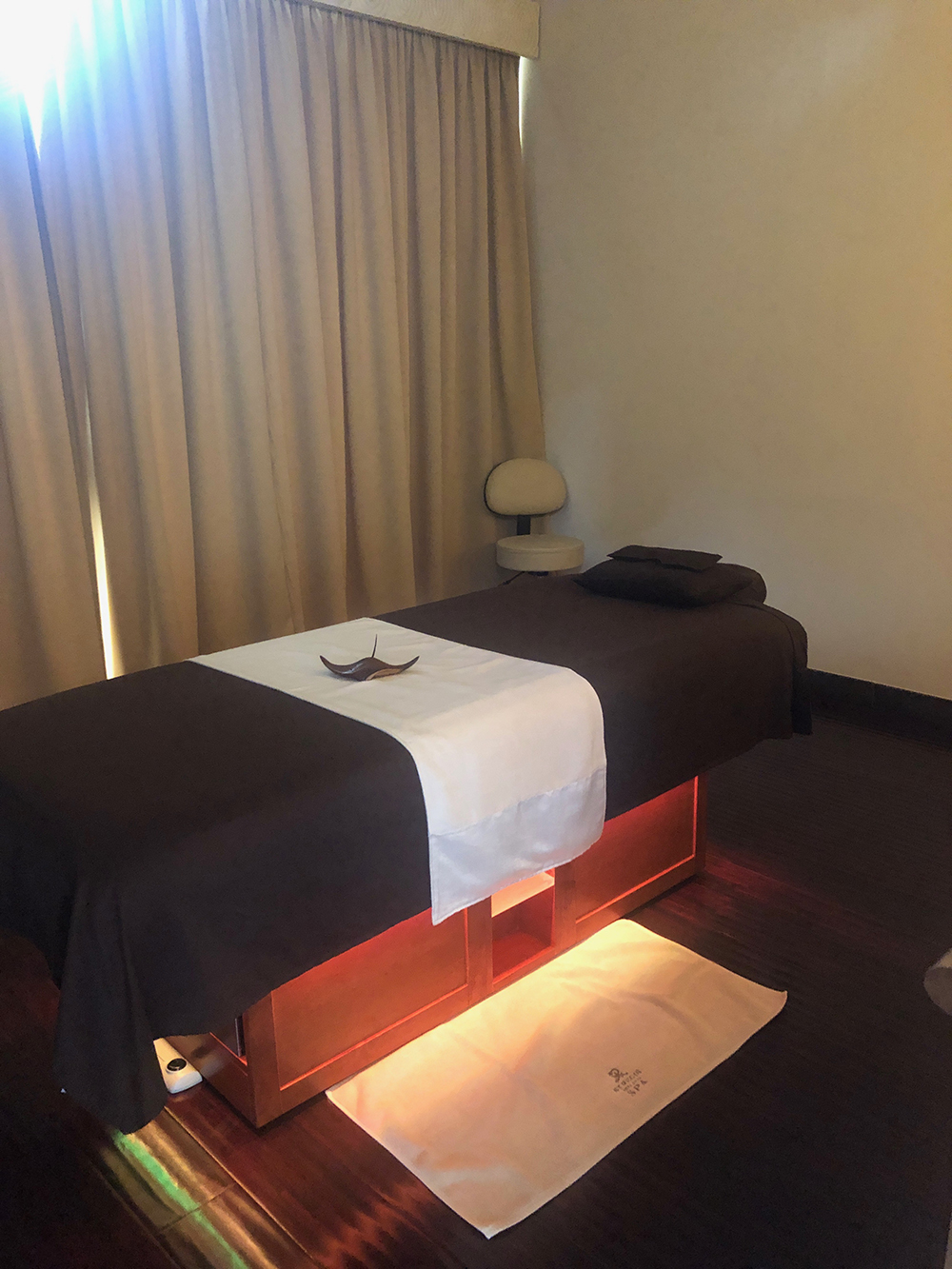 One of the spa's five treatment rooms.