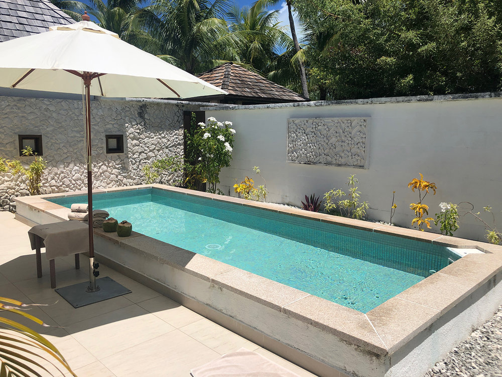 The spa's other private wellness area has its own private pool.