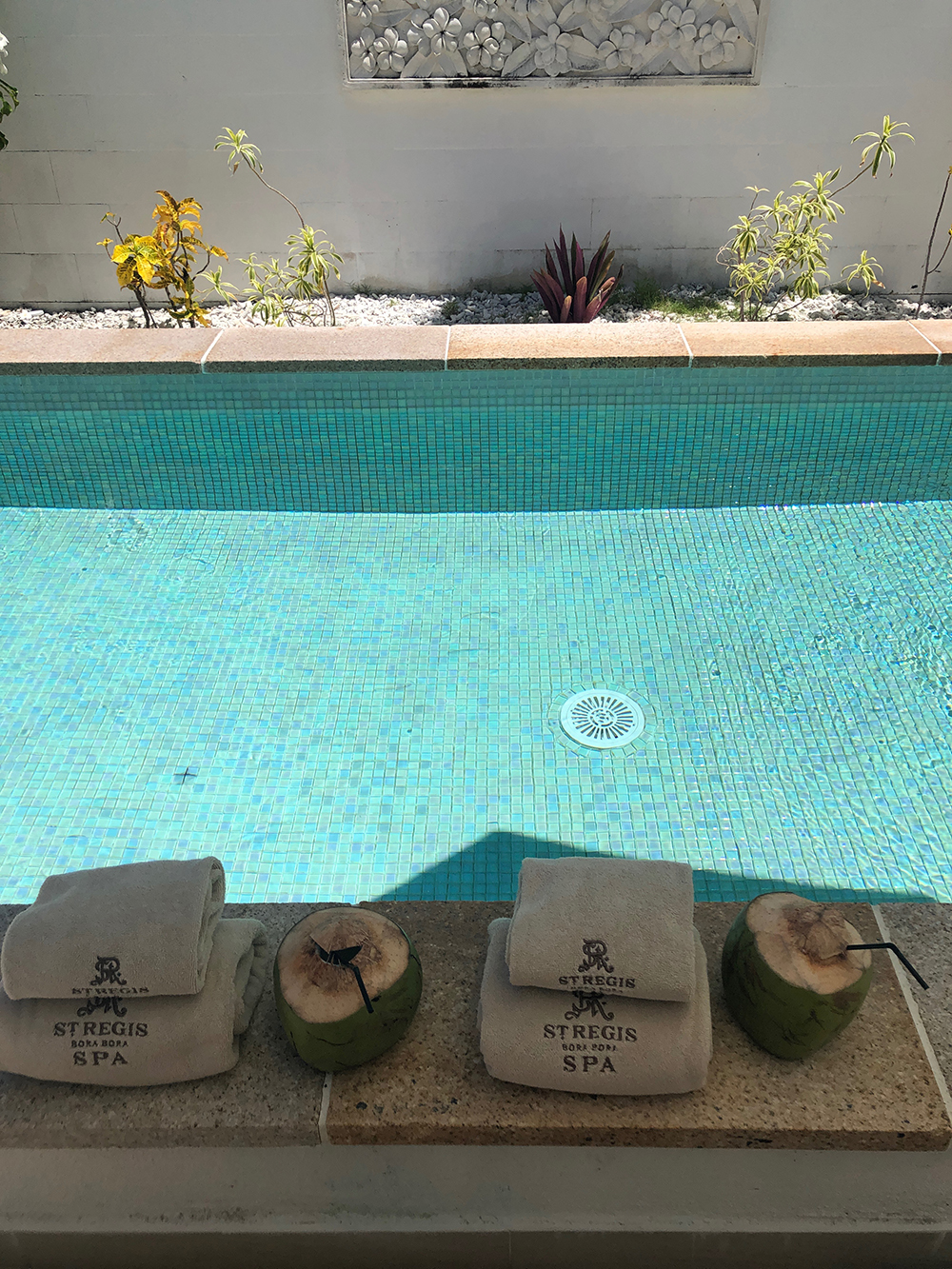 Fresh towels and coconuts awaited us after our spa treatments.