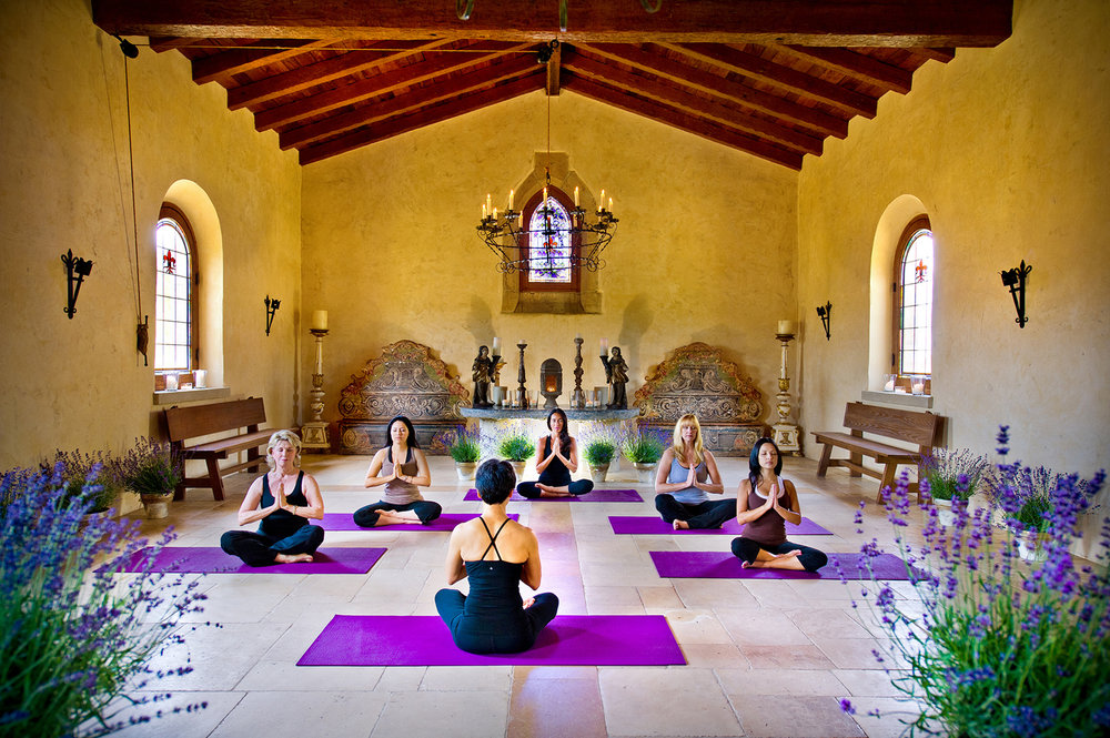Cal-a-Vie offers a range of fitness classes, including yoga.
