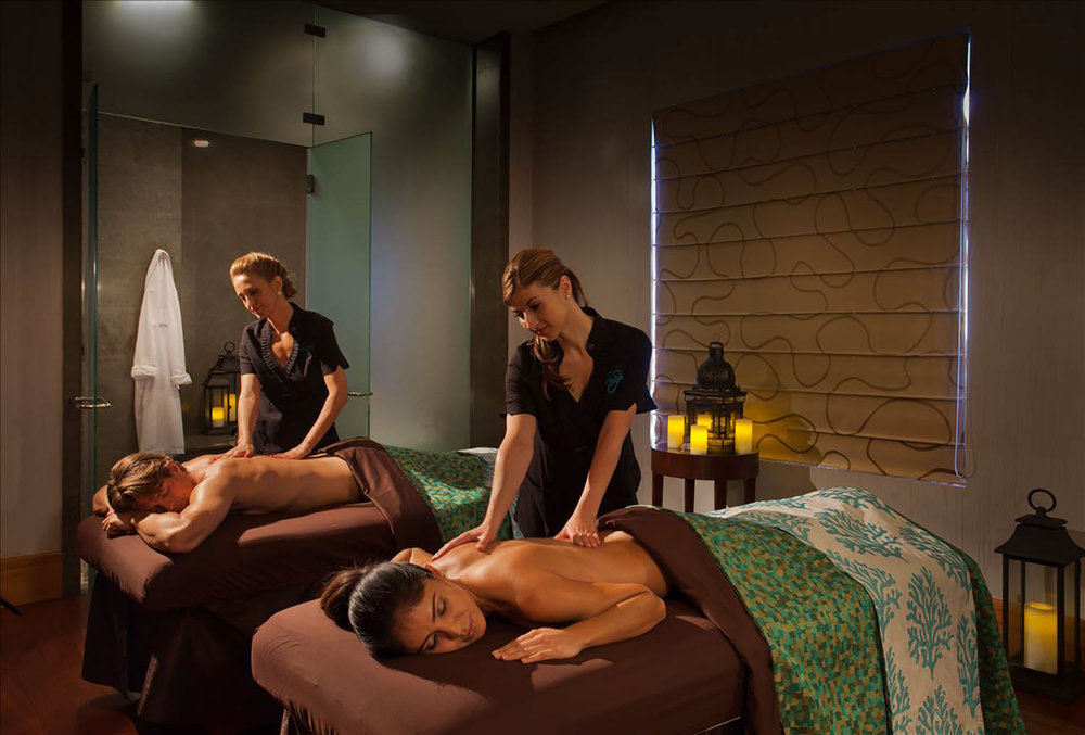 Couples can also enjoy massages together in the couples' suite.
