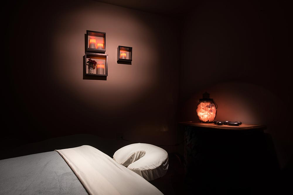 One of the spa's relaxing treatment rooms.