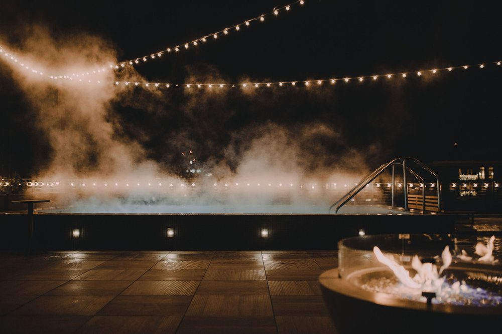 The new program is centered around the property's 24-person rooftop sauna in partnership with local sauna stewards Sauna Society Outfitters.