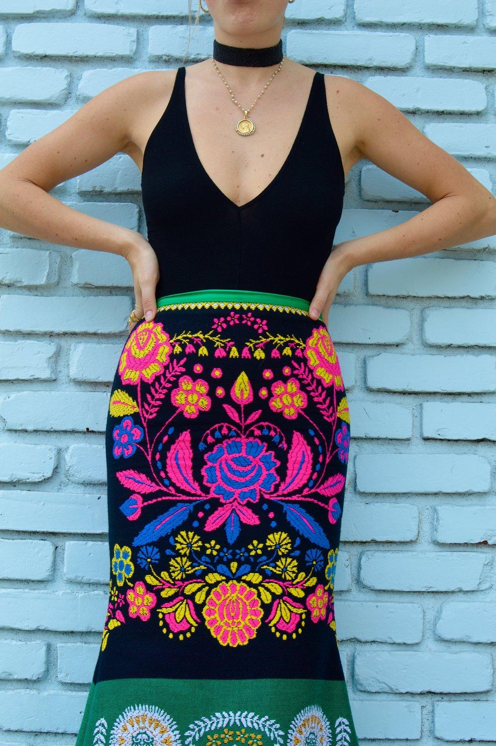 Skirt: Cynthia Rowley //Bodysuit: Brandy Melville //Choker: Sticks +Stones //Heels: Zara