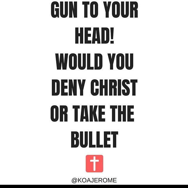 Christ died for you in a brutal way...would the ones who say they ride for him do the same.  If I faced this decision, im taking the bullet hands down. What would you do??? Do you trust him enough to know he has you after you leave this World!!!! Have you been living by his laws and commandments, or are you a part time believer???? . . #godisgood #lifeordeath #rideordie #truth #christ #real #whatwouldyoudo #facts #thinkaboutit #hmmm #wouldyou #bible #takethebullet #amen #blessed #beautiful #heaven #christian #saints #church #believers #saved #lastdays #repost #comment #like