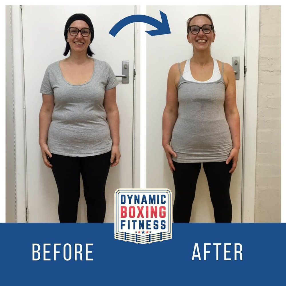 "Ray   Ray did 3 rounds of the Body Transform and lost 13kg. Her body fat dropped from 40.5% to 27.3%!She says: ""Now that's a transformation. Thanks Laska!"""