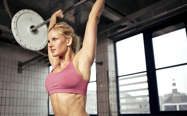 iStock CrossFit Lady OH press med file.jpg