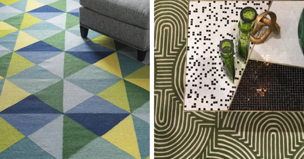Art deco shapes - rugs and coffee table
