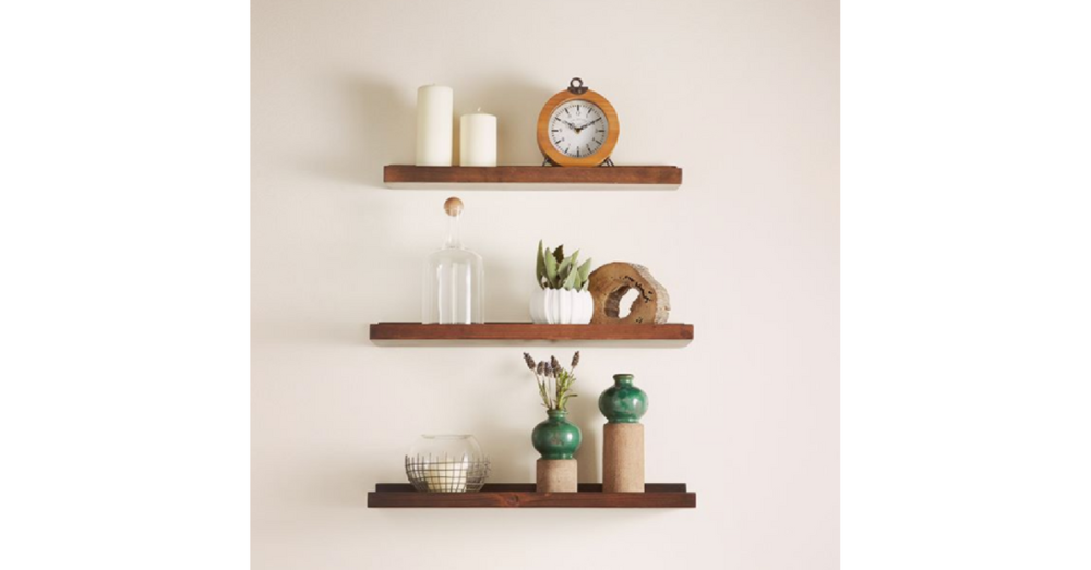modern farmhouse design element - open shelving