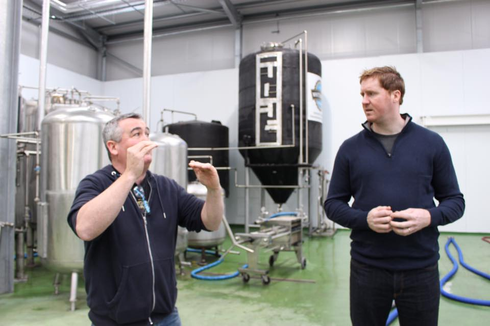 During my first visit to Whitewater's Brewery Bernard Sloan kindly gave me a tour of their fantastic facility up in the Mourne Mountains.
