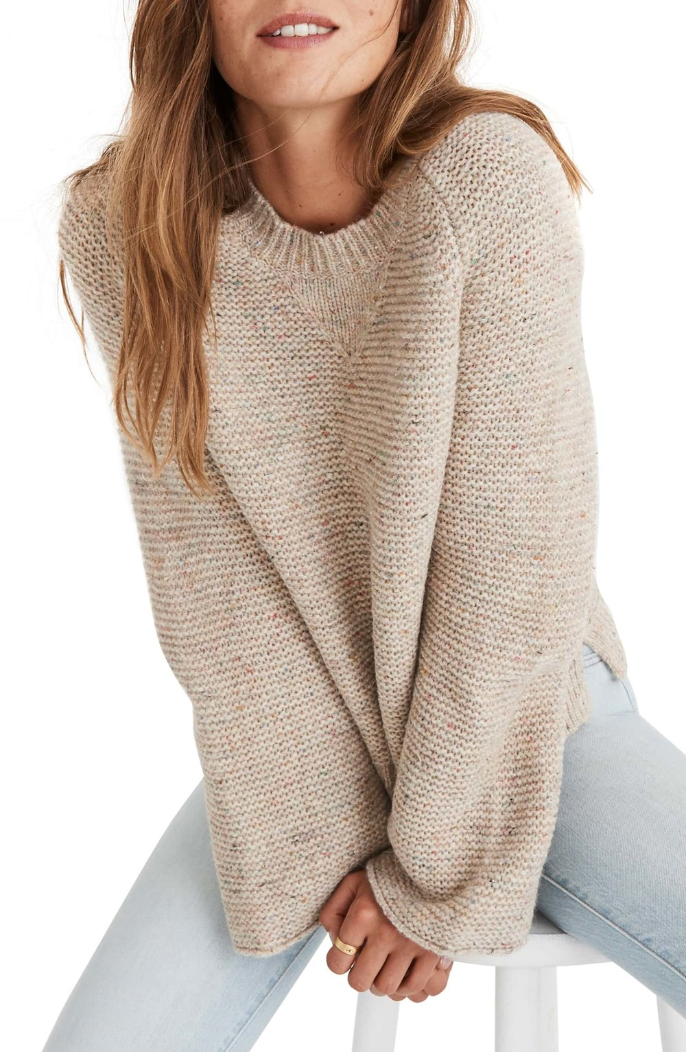 Madewell Flecked Wide Sleeve Sweater