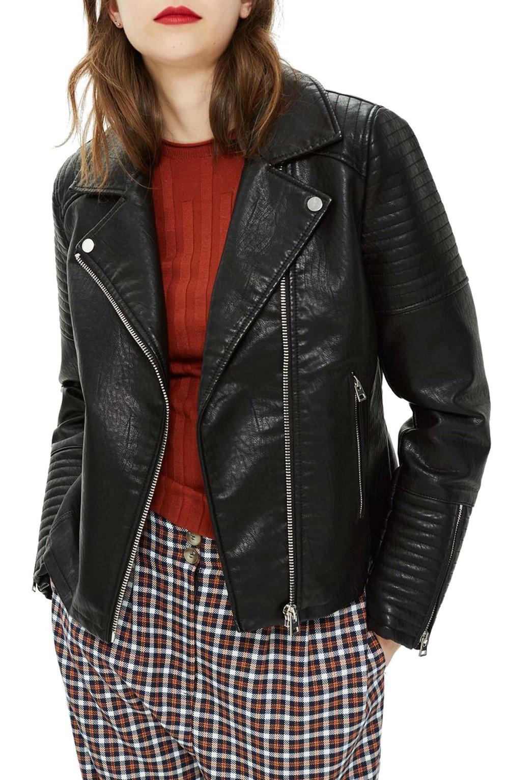 Topshop Rosa Biker Jacket (Regular & Petite)