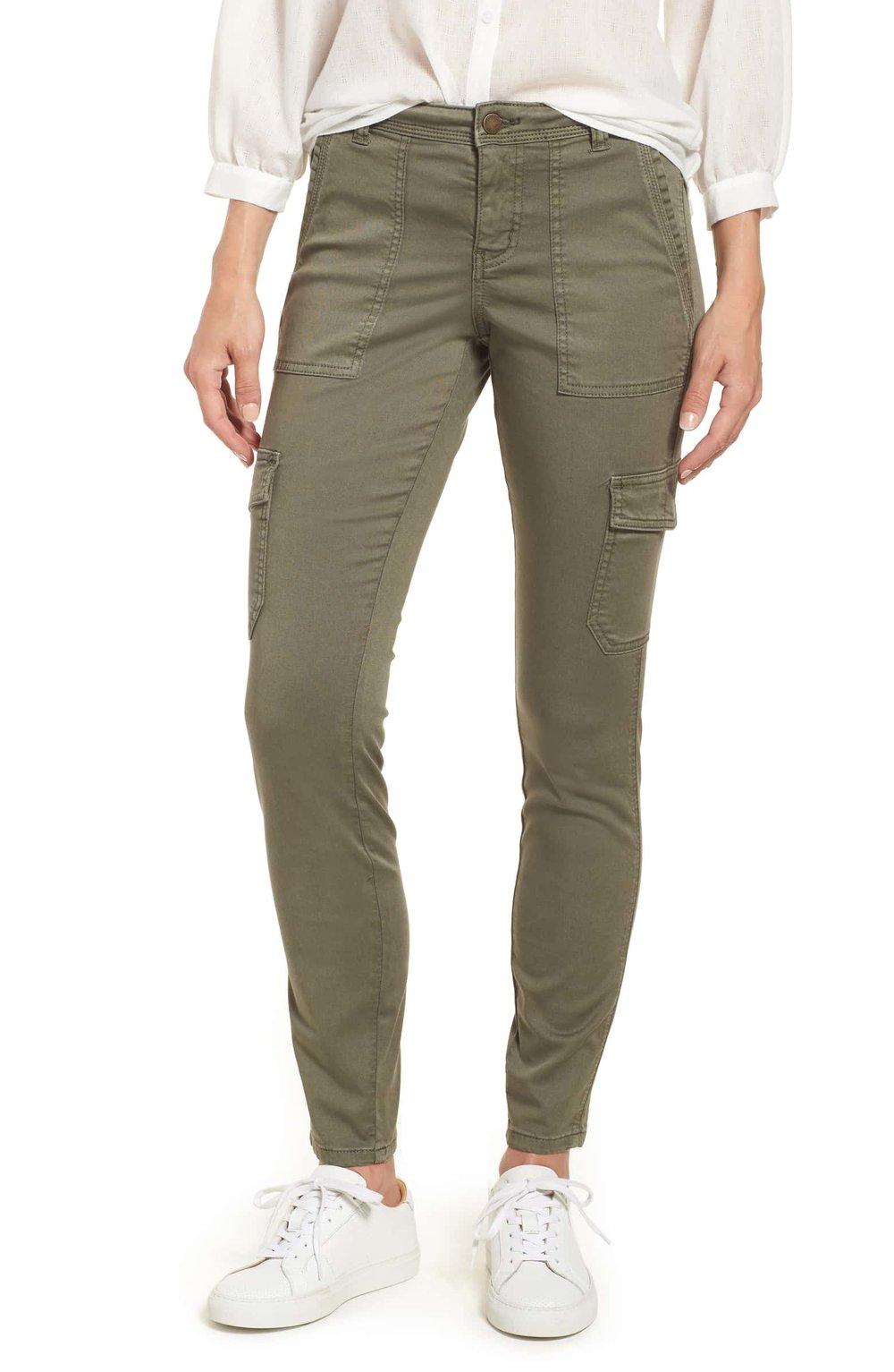 Caslon® Utility Pants (Regular & Petite)