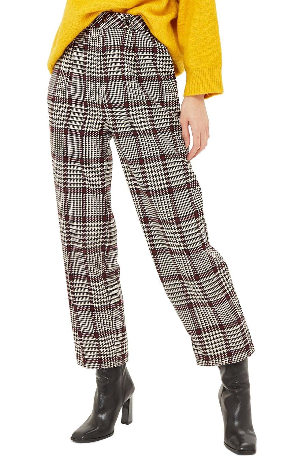 Suzy Check Peg Trousers