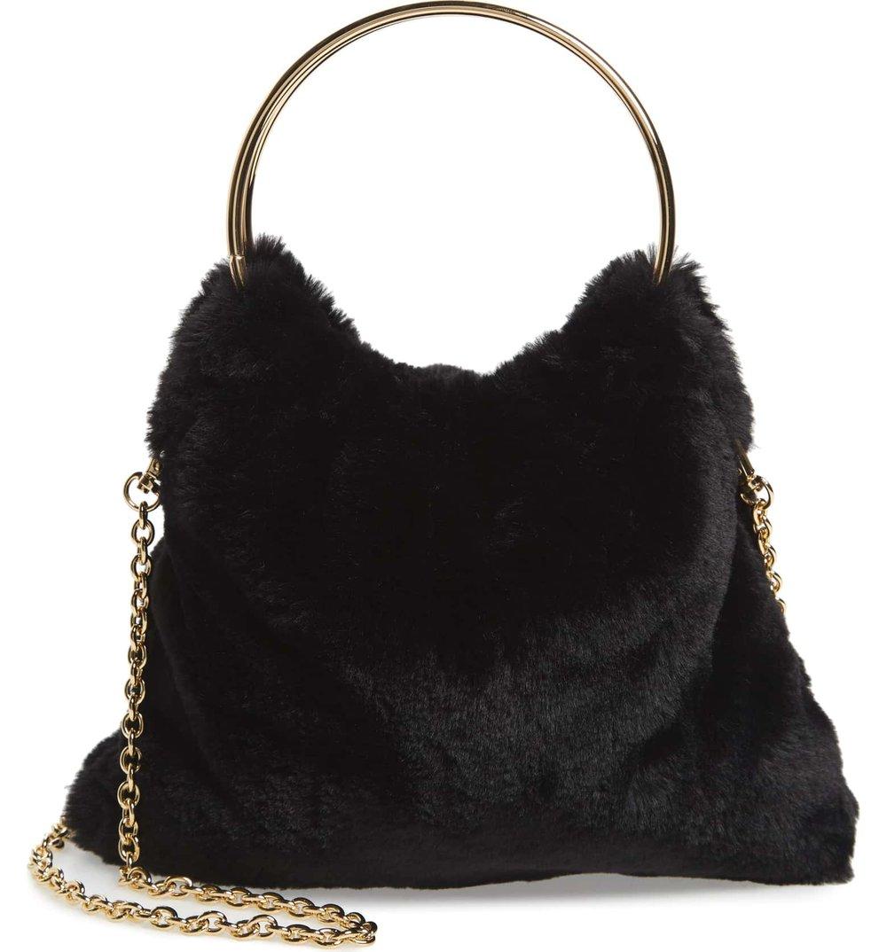 Sole Society Loray Faux Fur Bag