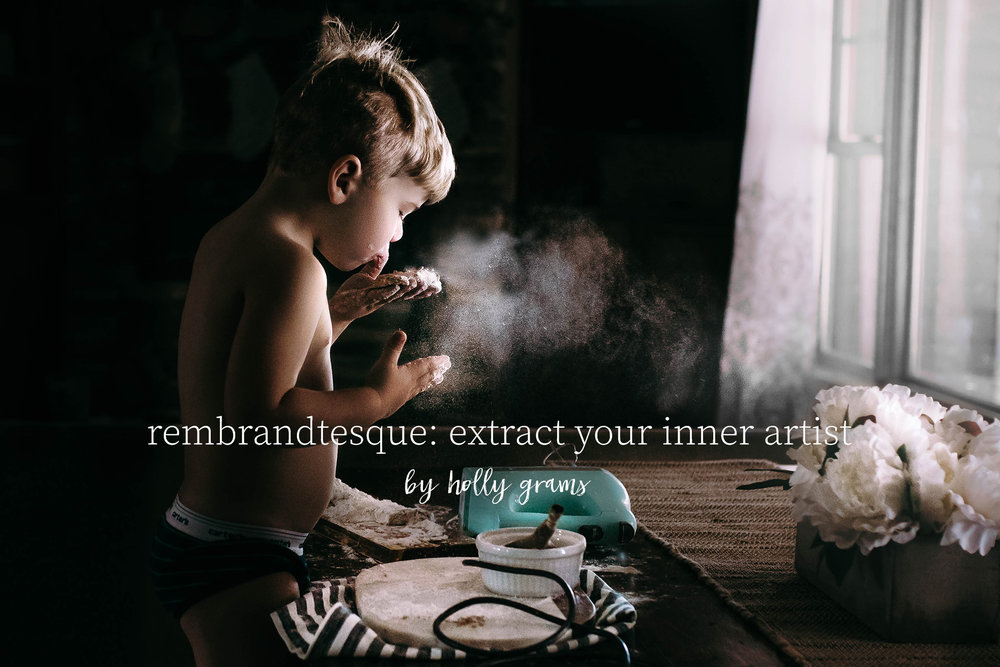 rembrandtesque:extract your inner artist  - by Holly grams