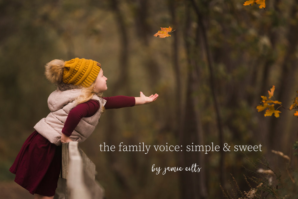 the family voice: simple & sweet  - by jamie eilts