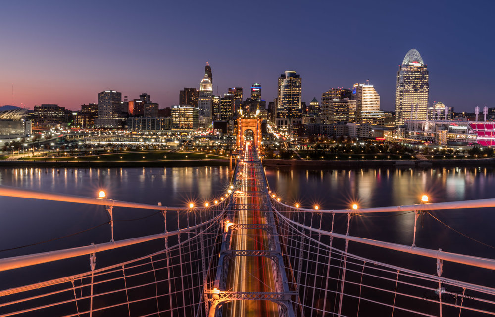 ISO 64, f 18, 30 seconds, 24 mm   Light trails and cityscape at dusk ISO 64, f 18, 30 seconds, 24 mm