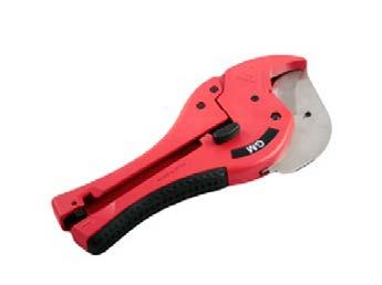 Leikkuri 32–50 mm 79-041.041   • Tarkka, kohtisuora leikkausjälki.  • Erittäin tarkka leikkausjälki, ei vääntymistä.  • Tarkka paineensiirto ja ohjattu syöttö.  • Terät avautuvat automaattisesti ja hallitusti painiketta painamalla.  • Kumisesta kädensijasta saa hyvän otteen.  • Kahvat voidaan lukita kuljetusta varten.  • Alumiinia.  • Terät ruostumatonta terästä.