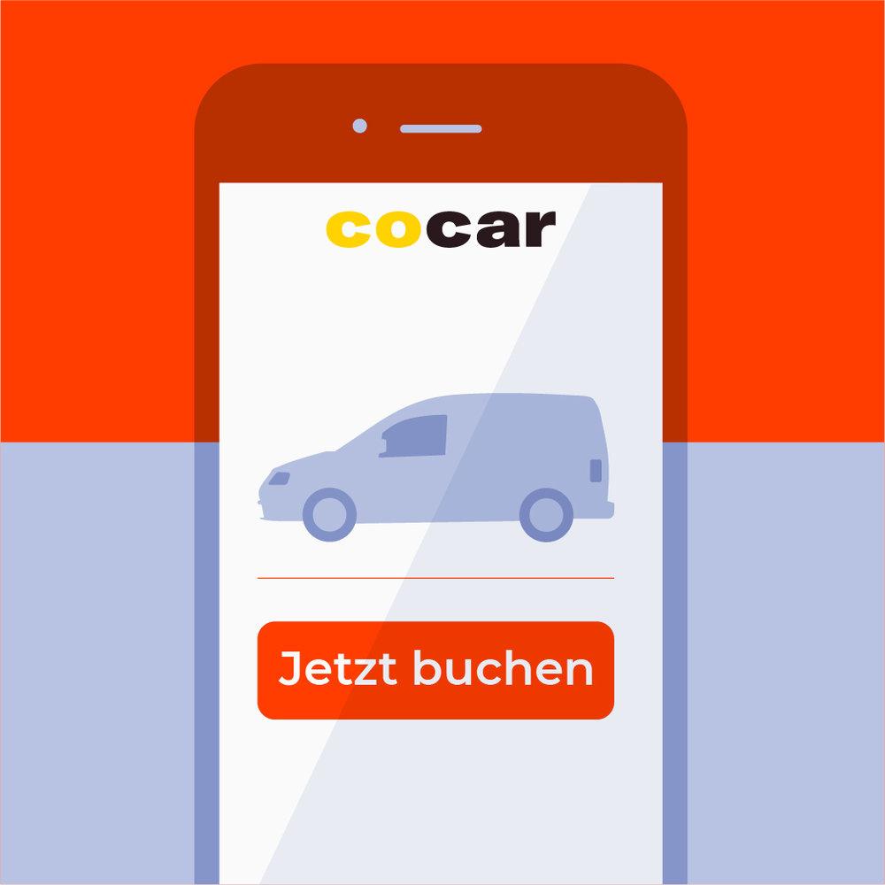 COCAR Carsharing - Autos nutzen
