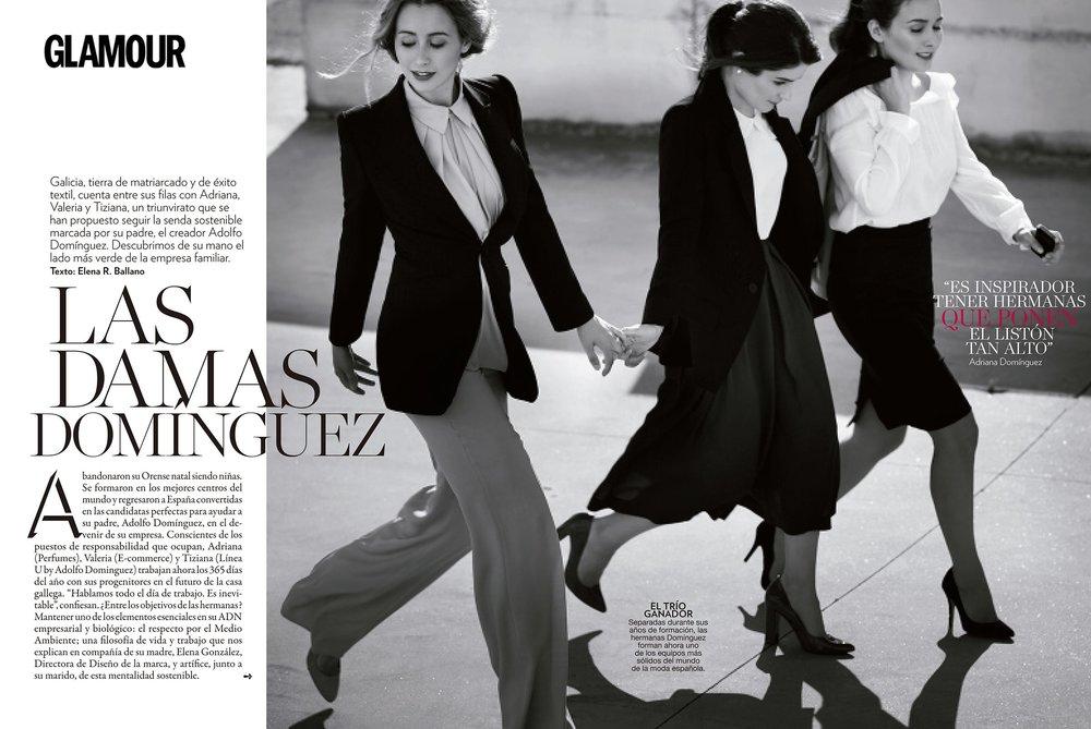Las Damas Domínguez - GLAMOUR Hijas del diseñador español, las tres hermanas se han propuesto seguir la senda sostenible marcada por su padre. Descubrimos de su mano el éxito de la marca made in Spain.Leer más