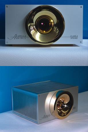 ION TW 1 S - Ionic Tweeter - Attivo, com ampli interno a valvole in Classe ASensibilità: 1,5Volt / 0 dBImpedenza: 600 ΩPressione massima: 110 dB - 1 m / 1ms Pendenza filtro attivo : 12 dB/ottavaRisposta in frequenza: 5kHz (variabile da crossover) - 50 kHzAlimentazione 234 Volt / 50 Hz StandardDimensioni: 150 x 300 x 260 mm Peso: 15 Kg cad.