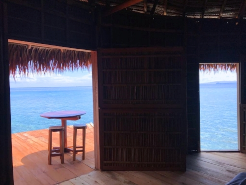 Open views - Guest accommodation at the MahaRaja Eco Dive Lodge