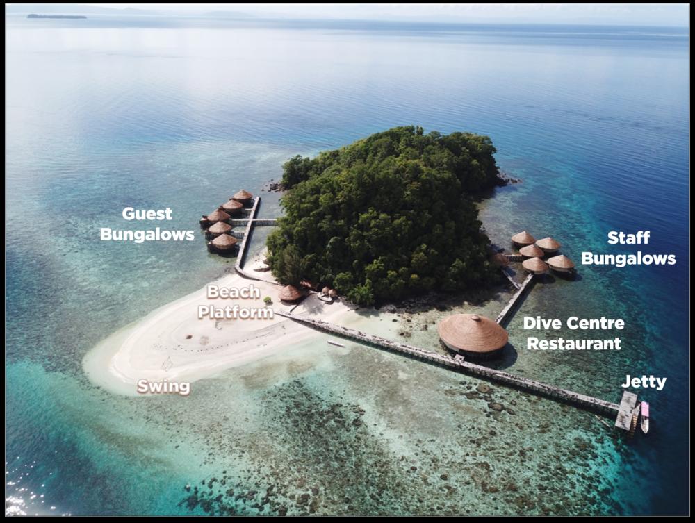 MahaRaja Eco Dive Lodge map