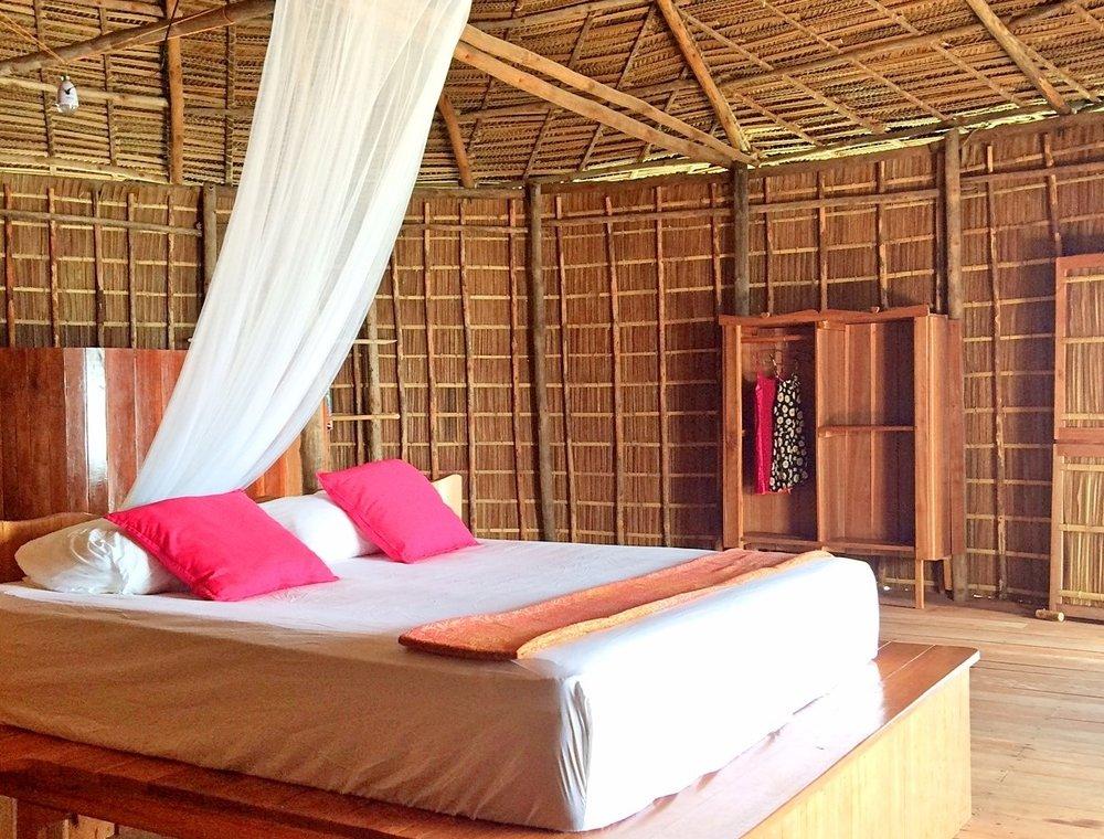 Guest accommodation at the MahaRaja Eco Dive Lodge, Raja Ampat