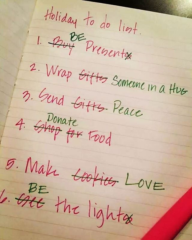 The true meaning of Christmas. Wishing you all warm & merry days 🌟 . . . #triggerchristmas #christmas #todolist #bepresent #hugs #peace #donate #food #love #makelovenotwar #bethelight #light #christmasiscoming #christmaseve #joy #meaningfulquotes #warm #familytime #holiday #festivespirit #festiveseason #wordsofwisdom #mondaymotivation #quotestoliveby #mostwonderfultimeoftheyear #socialenterprise #humanconnection #connection #startswithyou
