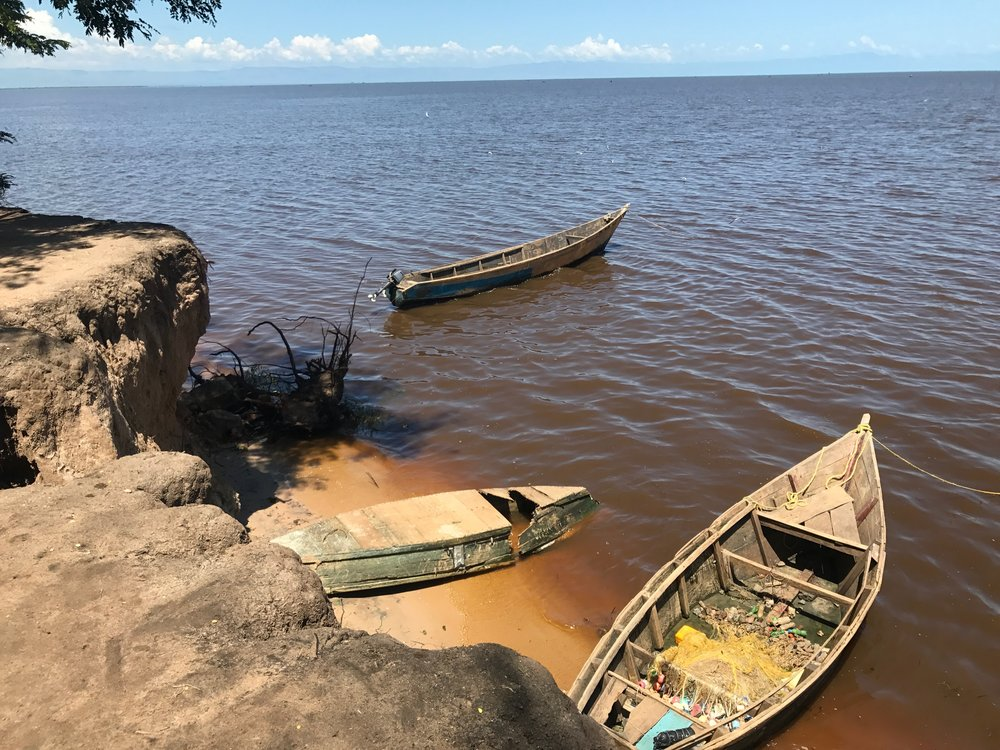 Fishing Boats on Lake Albert