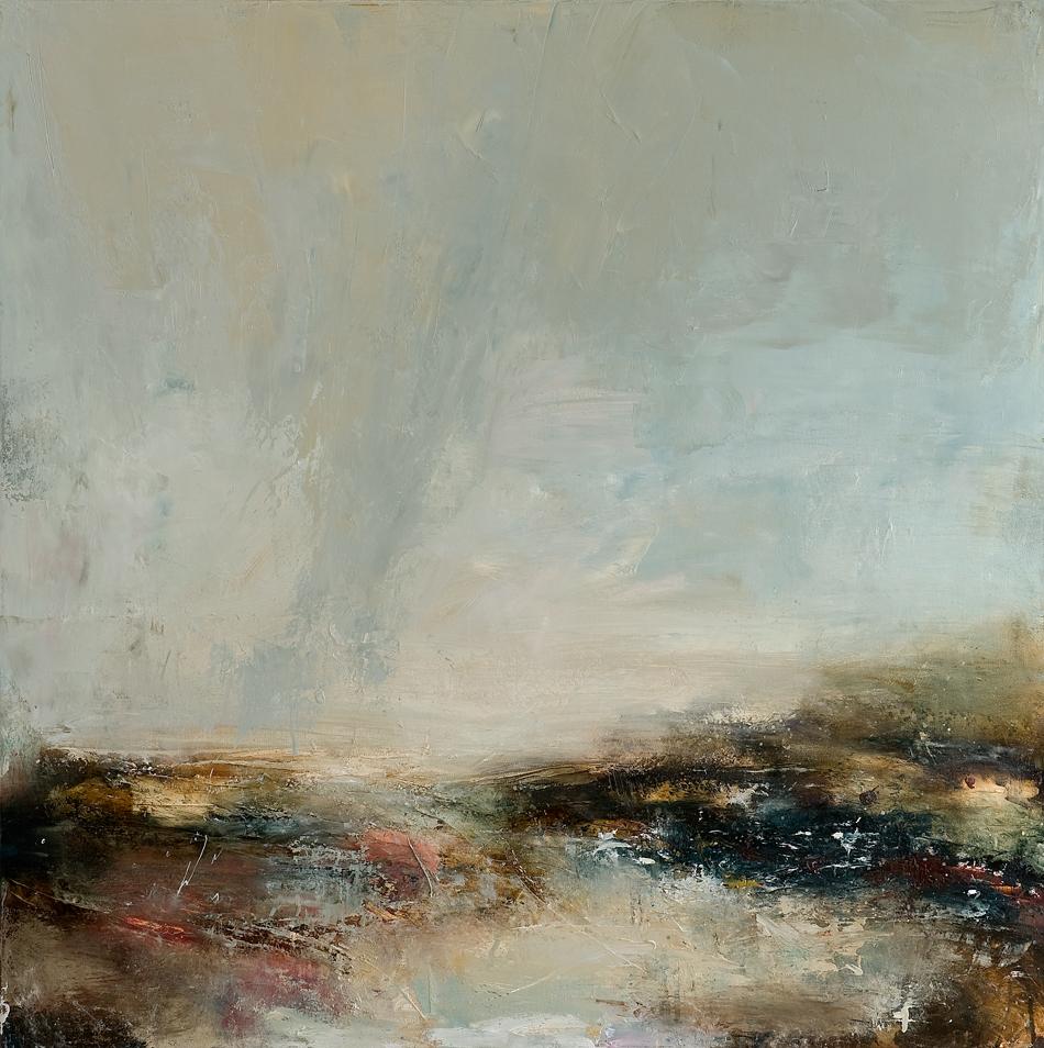 Returning oil on canvas 101.5cm x 101.5cm 2013