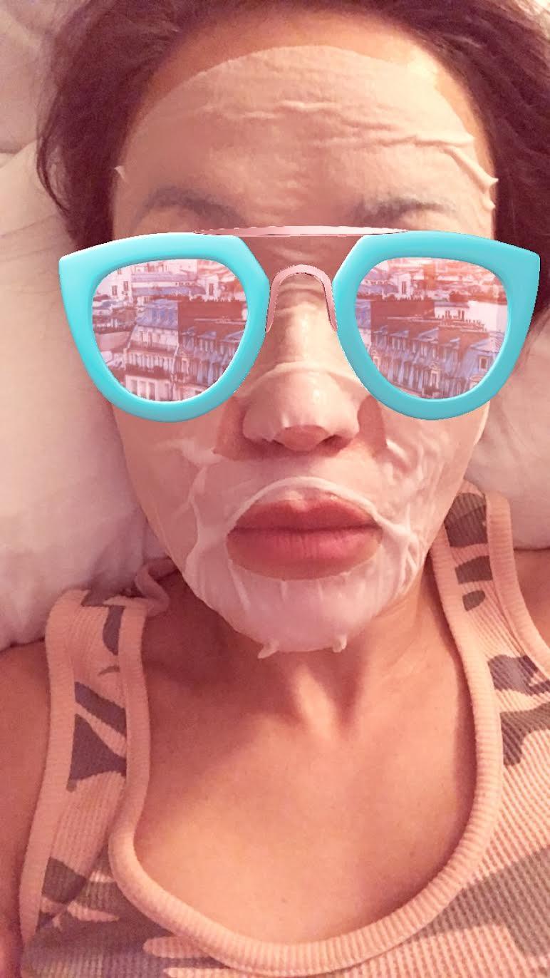 #SkinBabe Eva Pilgrim masks at least 3x a week!
