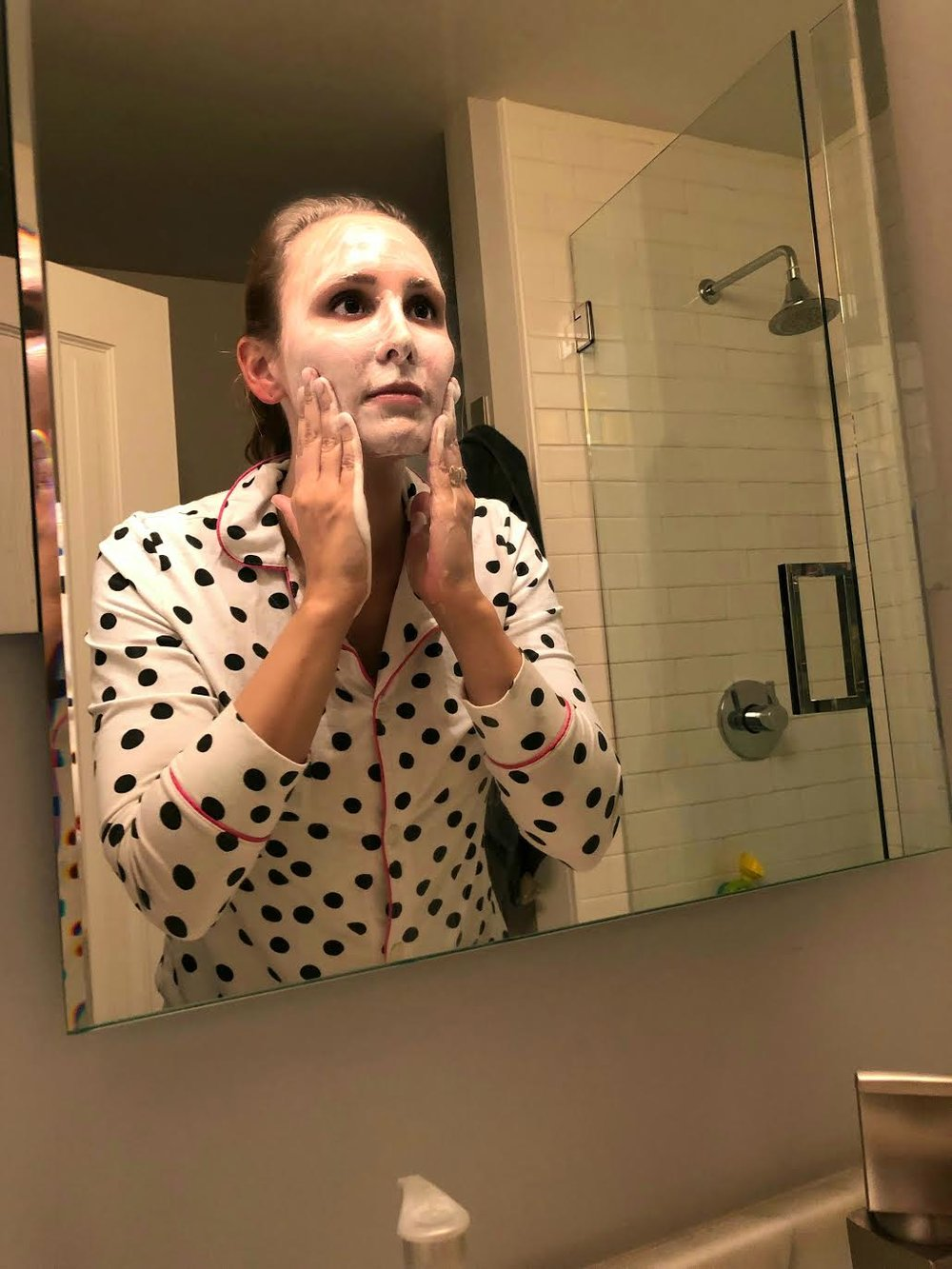 #SkinBabe Molly Boudreault also masks at least once a week!