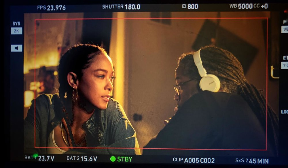 #SkinBabe Chaley Rose on the set of her upcoming film DINNER FOR TWO for TVONE.
