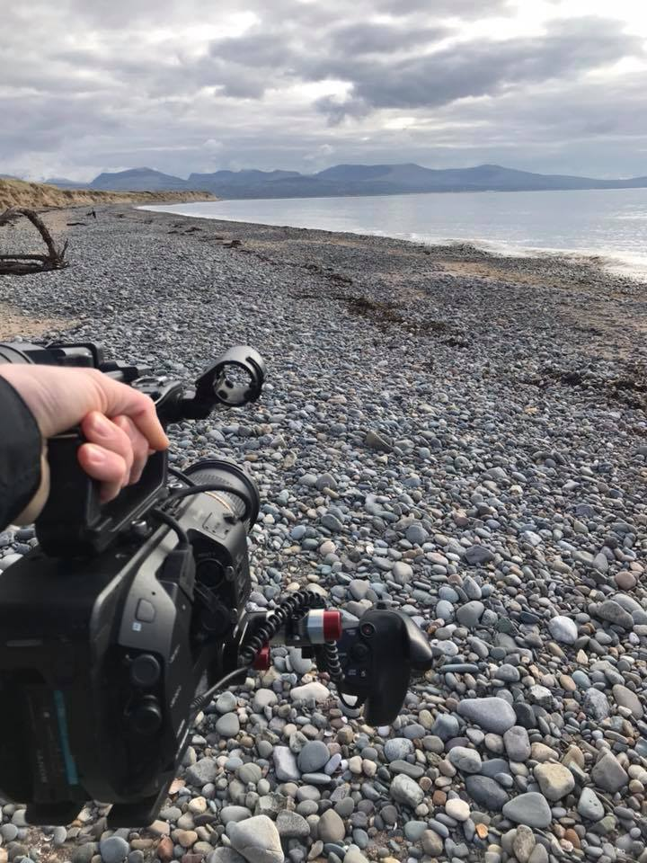 Sony FS7 filming on the beach, Wales