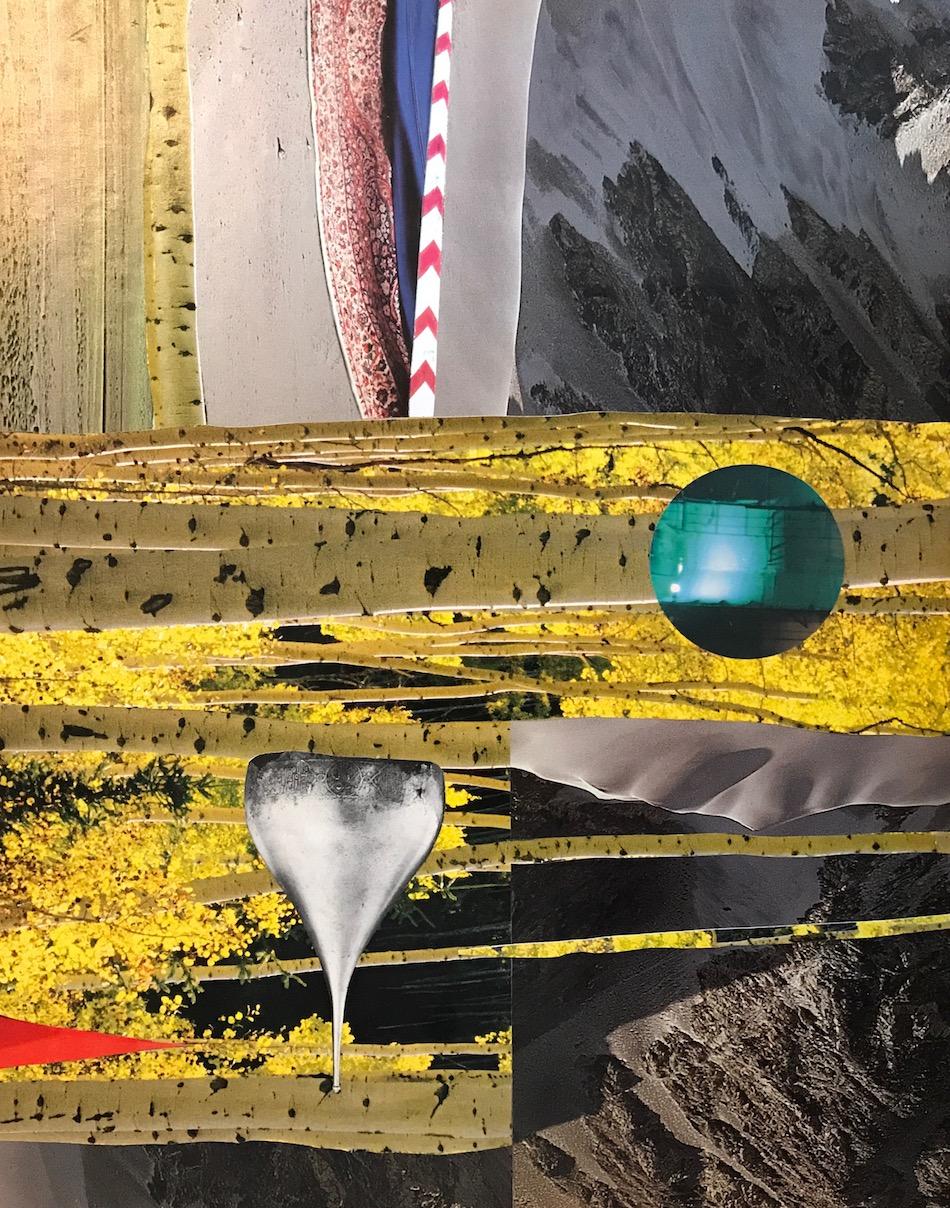 """Collage (Delta) 11"""" x 14"""" 2017"""