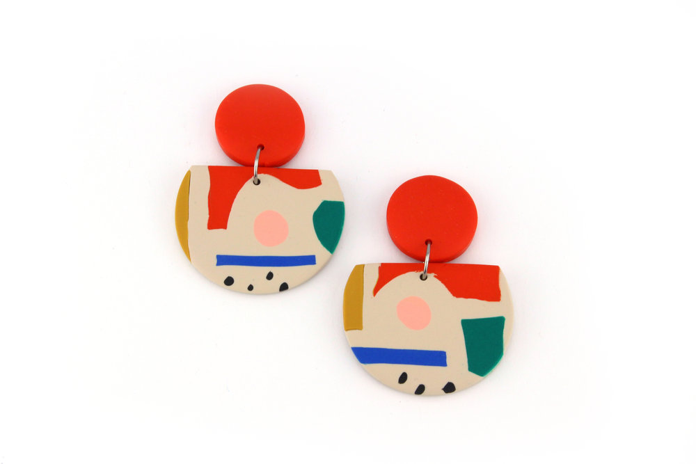 COCO BEIGE EARRINGS
