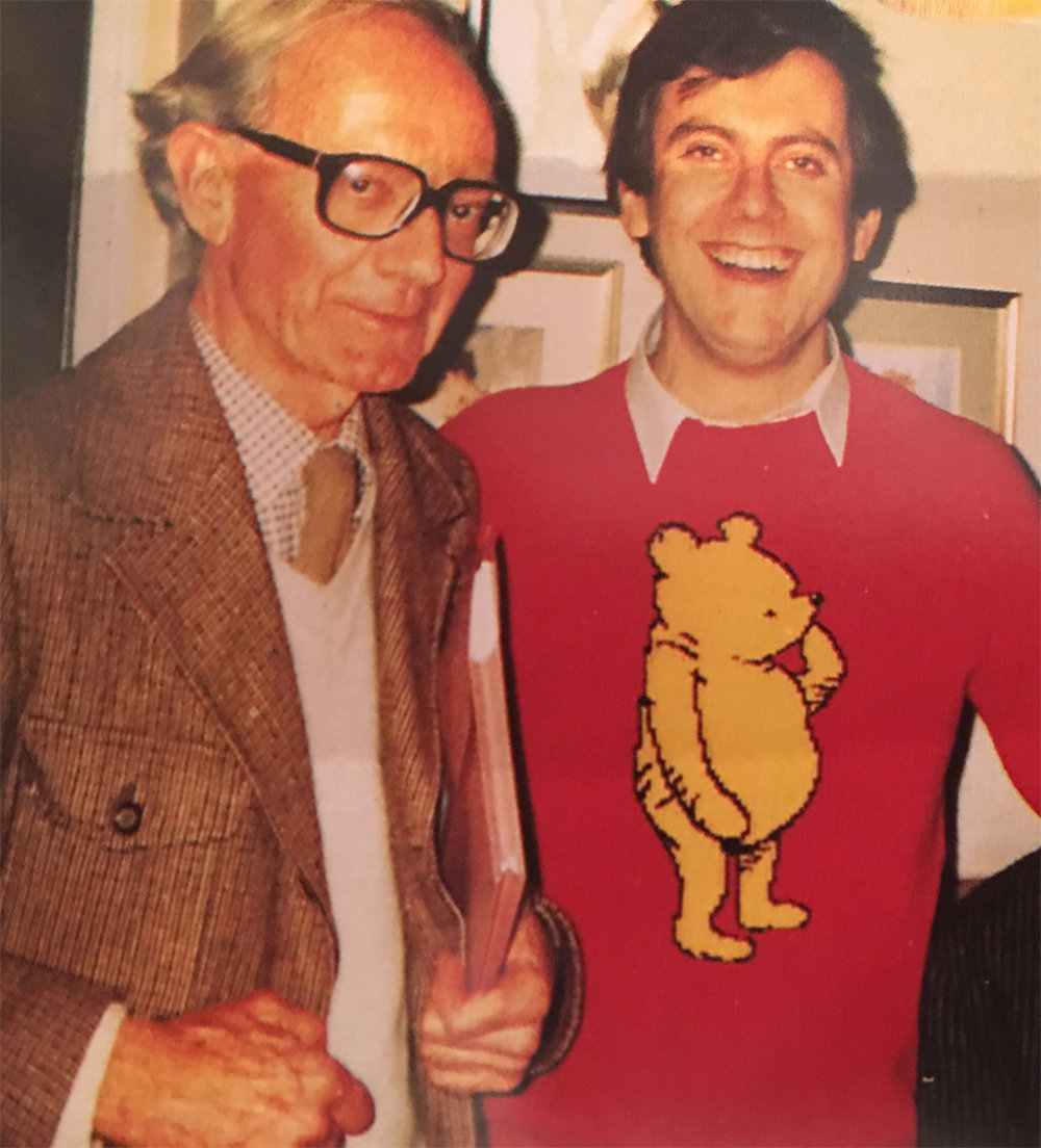 Christopher Robin Milne and Gyles Brandreth in 1986