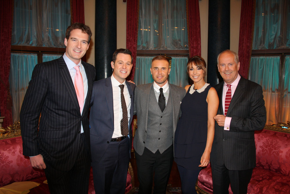 Gyles and The One Show Team at Buckingham Palace with Gary Barlow