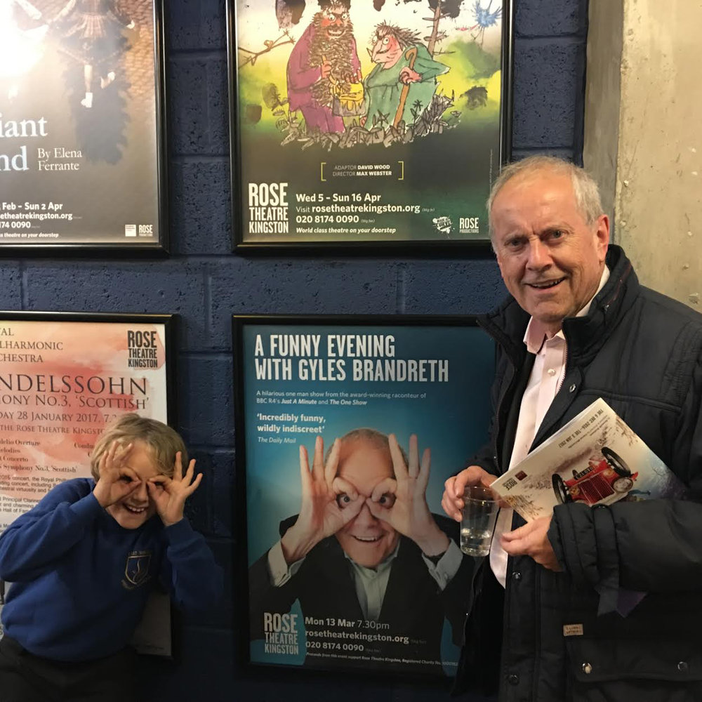 Gyles with his grandson
