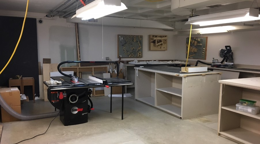The woodshop in our building basement