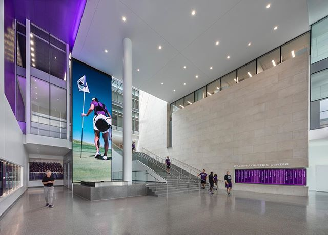 In celebration of #NationalGirlsAndWomenInSportsDay, we're highlighting the work of Interior Project Designer Jen Williams, a key player in our Sports+Recreation practice.  Jen focuses on designing spaces to elevate human performance, like the Ryan Fieldhouse and Walter Athletics Center at @northwesternu (images 1-2), the Snyder Athletics Center at @phillipsacademy (3-4), and the Baylor Scott & White Sports Therapy & Research Center (5-6). See our story for a closer look at Jen's journey to sports architecture!  Photography: 1-2: James Steinkamp. 3-4: @choifoto. 5-6: @hallmerrickphoto  #LeadHerForward #NGWSD @womenleaderscs