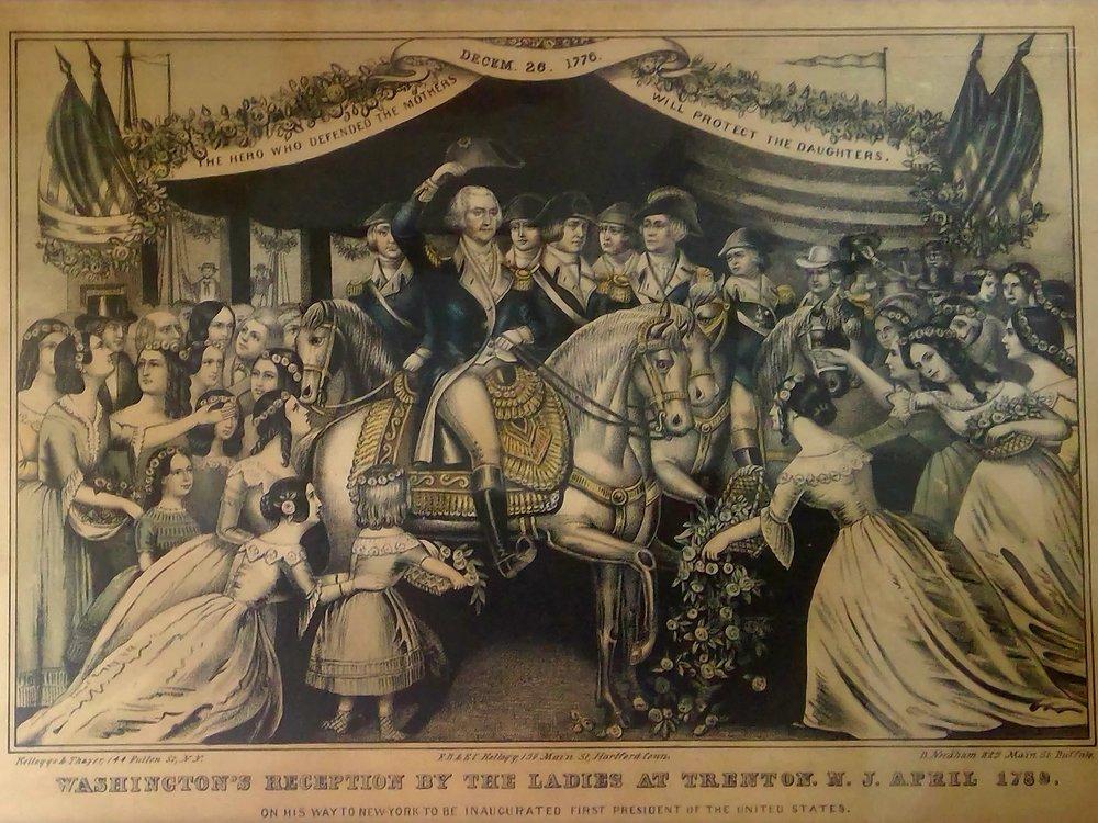 """Washington's Reception on the Bridge at Trenton"" Artist & Year Unknown"
