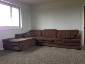 beat old couch