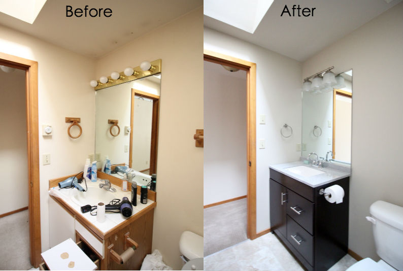 Iro Hall Bath Before and After